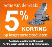 5% kortingactie op losgestorte producten