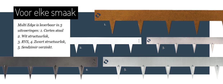 tuinafboording metaal multi-edge