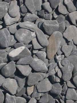 Flat Pebbles zwart 15 - 30mm