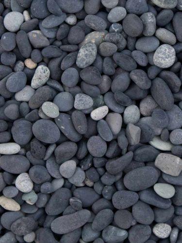 Beach pebbles zwart 5 - 8mm