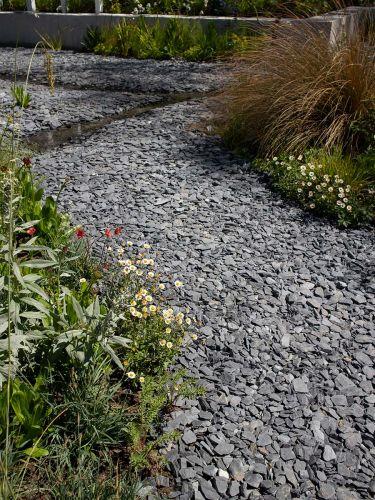 Canadian slate zwart aangelegd pad