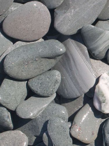 Flat Pebbles groen 30 - 60mm (nat)