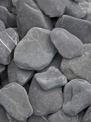 Flat pebbles zwart 30 - 60mm