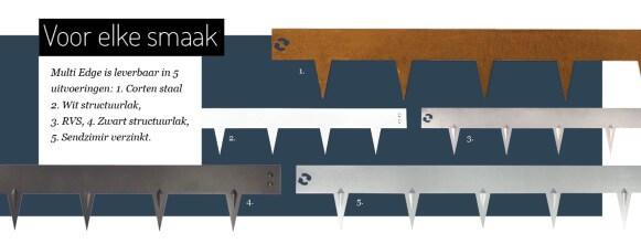 Tuinafboording Multi-Edge metaal