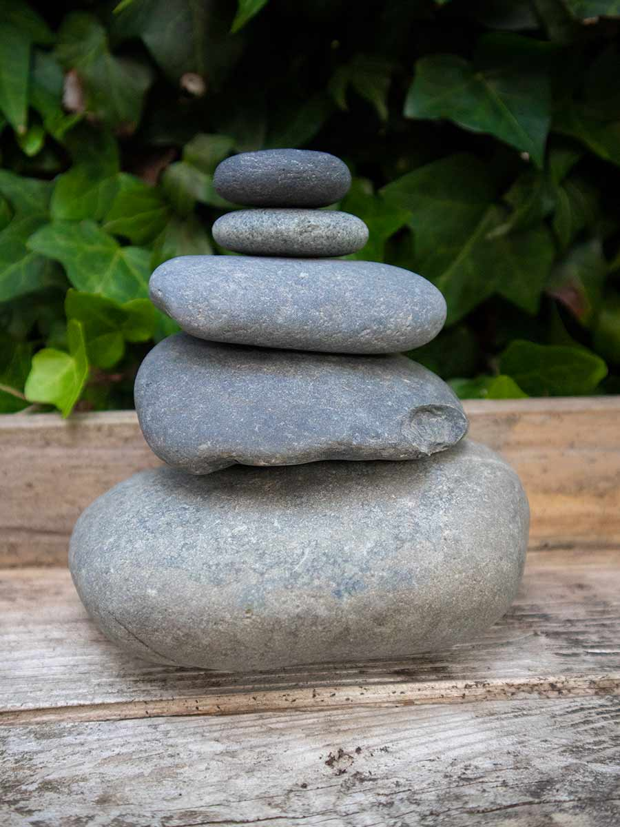 Zen tuin Beach pebbles